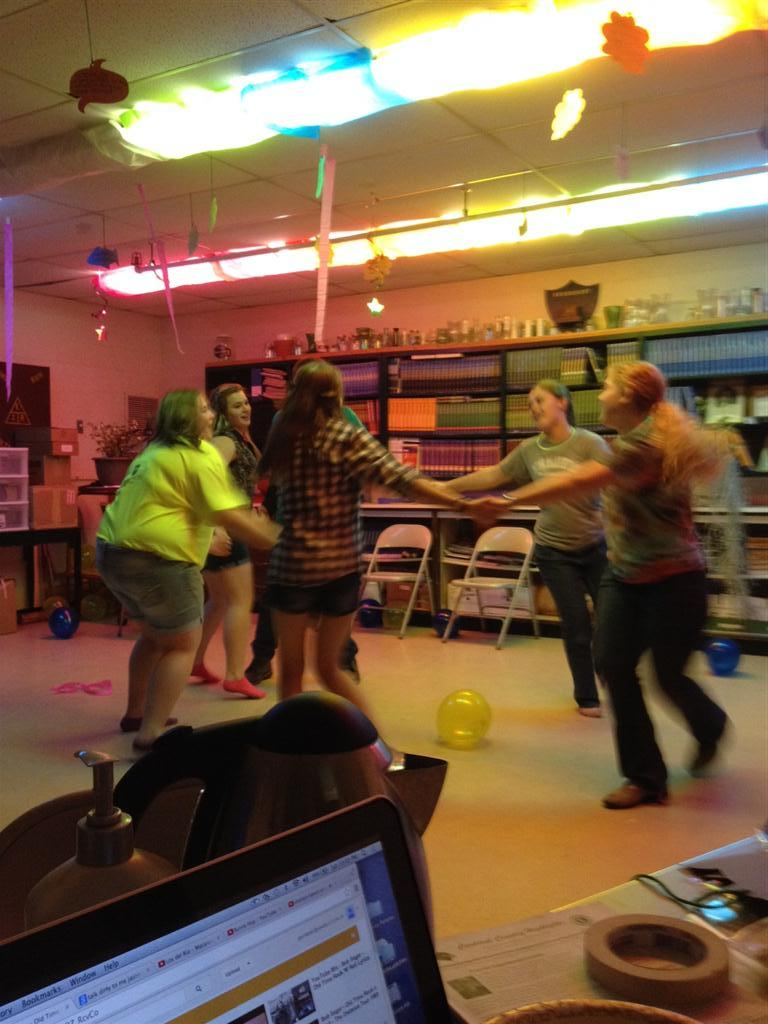 We had a lot of fun at the dance doing the Chicken Dance!