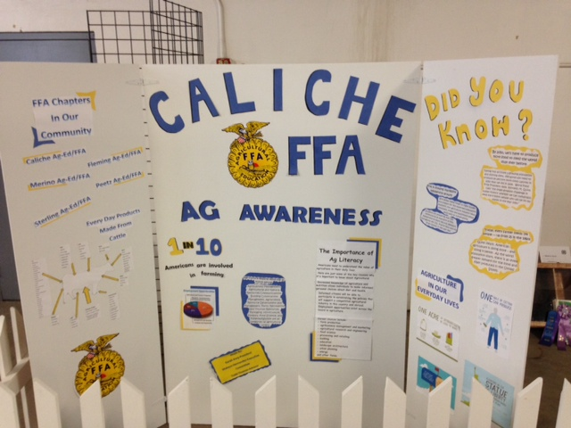 This is the Agricultural/FFA Awareness display that FFA officers designed and built.  The display also displayed the four other Ag-Ed/FFA chapters in Logan County.