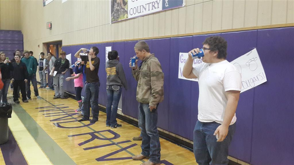 Milkshake Chugging Contest