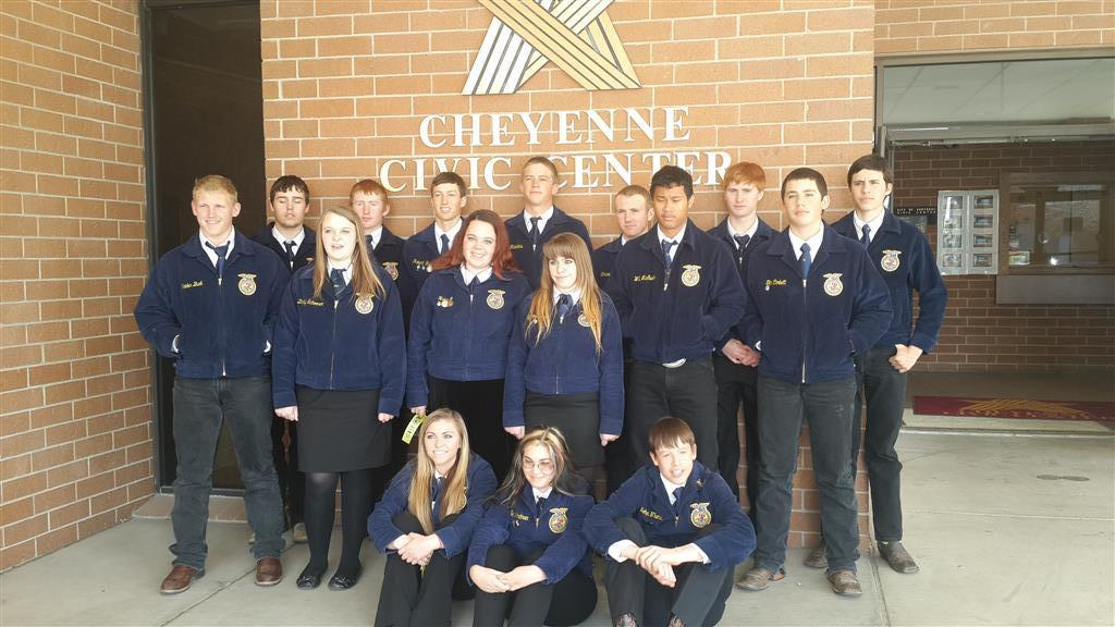 FFA members who participated in the Wyoming State FFA Convention