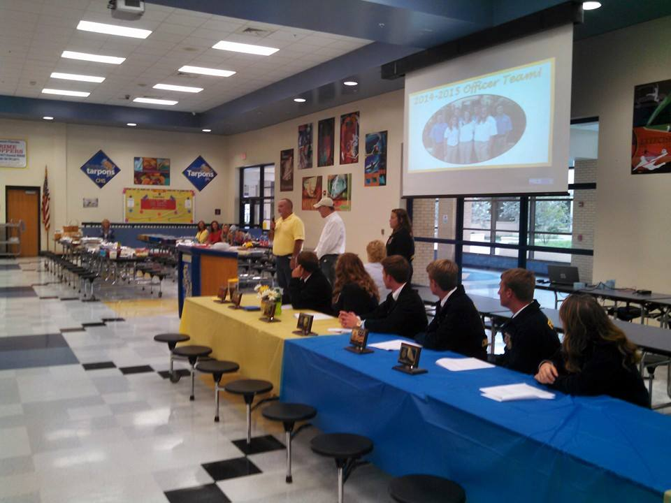 Alumni members presented the opportunities that their organization offers in addition to those of the FFA organization. This event gives them the opportunity to present to parents of potential members.