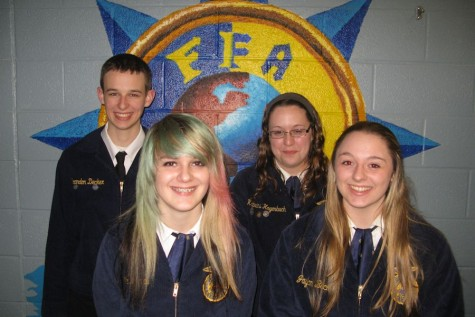 The Tyrone Area FFA members planned and executed the Blair County Public Speaking Event in March 2015.  Students who planned and assisted with the event and those that competed (pictured) all gained valuable growth.  Some learned how to complete school documents, others learned how to organize events based on rule specifications, and others went outside of their comfort zones by competing or welcoming judges and guests.