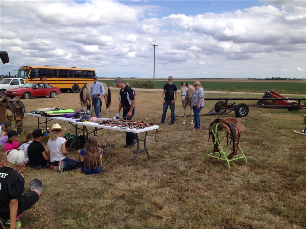 During Ag Day fourth grade students toured three site locations and listened to presenters that included high school students and agriculture industry professionals. Fourth grade students went through three rotations at each site, learning about a variety of agriculture topics.