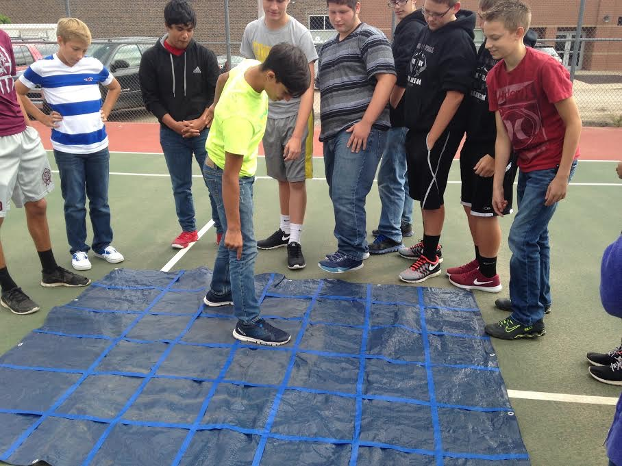 During Leadership Workshops, Ag science students went through a class period to learn to be better leaders. Presenters were the chapter officers. Ag science students went through three stations of activities, learning about leadership.