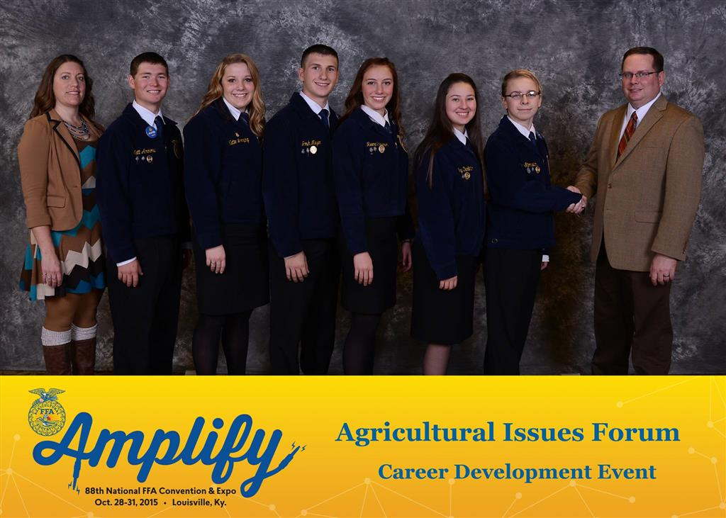 The 2015 Ag Issues team presented on Aquatic Invasive Species receiving a Bronze National Medal.