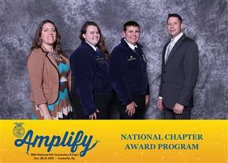 The Electric City FFA recieved a 2 star award at the National Chapter Ranking Awards.