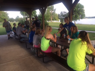 Many of our members gathered at Branched Oak Lake for our annual summer meeting. Mr. Carriker grilled hot dogs and hamburgers and members played volleyball and swam in the lake. Everyone who attended had a great time!