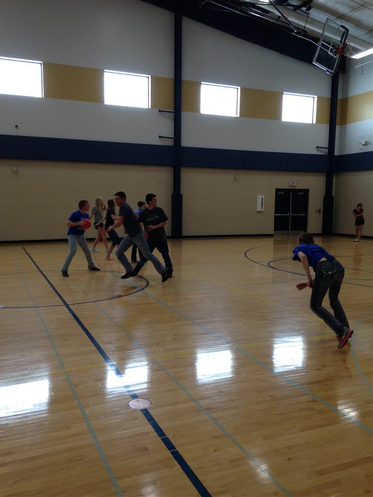 After our May meeting our chapter played in a heated game of dodgeball.  We try to always do an activity after the meetings in order to make the meetings a little more fun for our chapter.  It is also a great boding time for our chapter members.