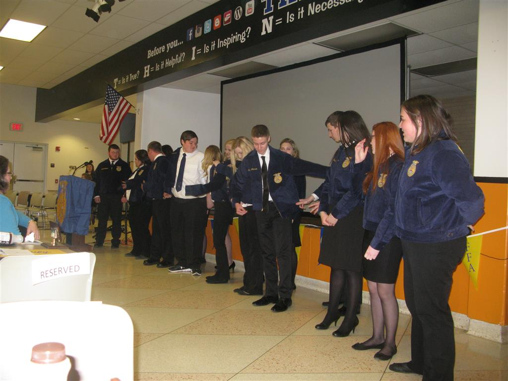 In April 9 members received their first FFA Jacket at the Chapter