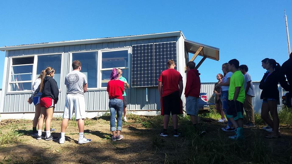 Students are learning about solar power and the capabilities of going off the grid.