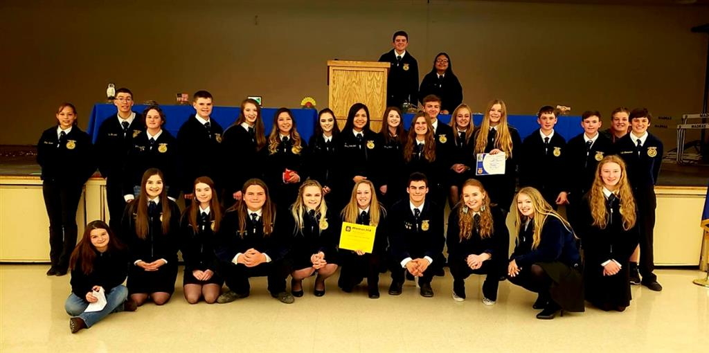 2019 Madras FFA Awards Banquet & Recognition Banquet Group Photo.