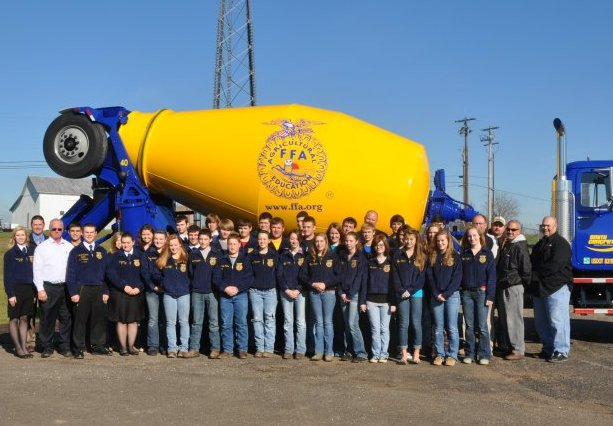 Specially painted Smith Concrete truck, Warren FFA, Ohio
